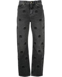 Tommy Hilfiger ロゴ ストレートジーンズ - ブラック