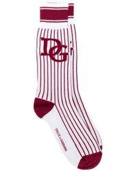Dolce & Gabbana - Striped Logo Socks - Lyst