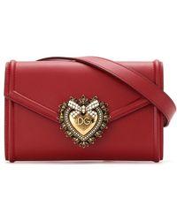 Dolce & Gabbana Devotion レザーウェストバッグ - レッド