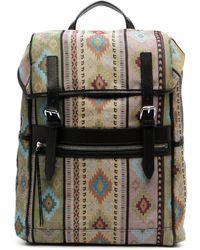 Etro Geometric-print Buckle Backpack - Multicolor