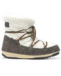 Yves Salomon Shearling Moon Boots - White