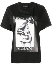 Emporio Armani Футболка С Фотопринтом - Черный