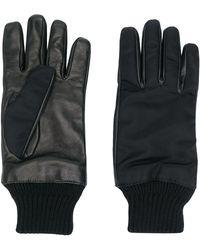 Alexander McQueen Zipped Pocket Leather Gloves - Black