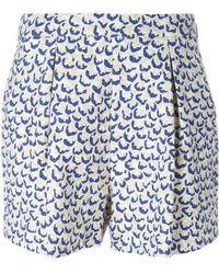 Giambattista Valli - Printed Front Pleat Shorts - Lyst
