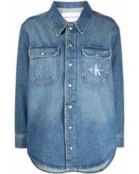 Calvin Klein ロゴ デニムシャツ - ブルー
