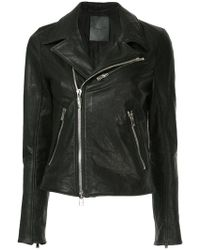 Fagassent - Leather Biker Jacket - Lyst