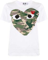 COMME DES GARÇONS PLAY ロゴ Tシャツ - ホワイト