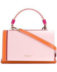 cfaa5c613 Gucci Nymphaea Leather Top Handle Bag in Pink - Lyst