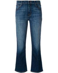 J Brand Kick flare faded jeans - Blau