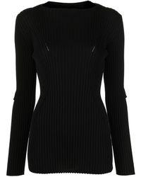 Junya Watanabe リブニット セーター - ブラック