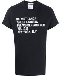 Helmut Lang - ブラック スタンダード T シャツ - Lyst