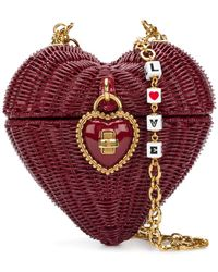 Lyst - Dolce   Gabbana Rose-embellished Cross-body Heart Bag 90f461a2763f6