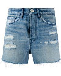 3x1 Short Jayson en jean à effet usé - Bleu