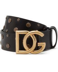Dolce & Gabbana - Ceinture à boucle logo - Lyst
