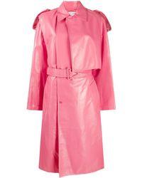 Bottega Veneta Тренч С Поясом - Розовый