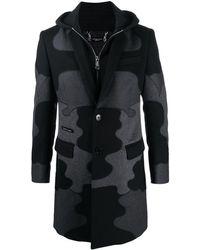 Philipp Plein Многослойное Пальто С Камуфляжным Принтом - Черный