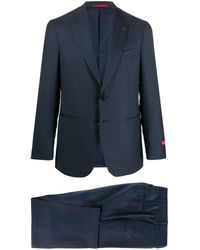 Isaia Fitted Two-piece Suit - Blue