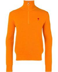 AMI 'Ami De Coeur' Pullover mit Reißverschluss - Orange
