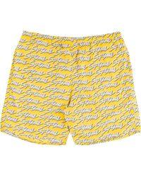 Supreme Signature Script Logo Water Shorts - Yellow