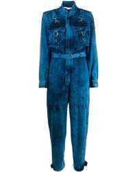 Stella McCartney Denim Jumpsuit Met Gebleekt Effect - Blauw
