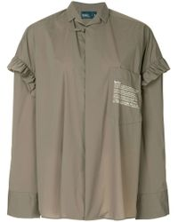 Kolor - Ruffle Sleeve Oversized Shirt - Lyst