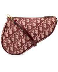 Dior Clutch Trotter Saddle Pre-owned - Rosso