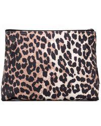 Ganni - Leopard Print Makeup Bag - Lyst