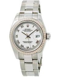 Rolex Наручные Часы Oyster Perpetual Datejust 26 Мм 2012-го Года Pre-owned - Белый