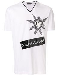 Dolce & Gabbana - ハートロゴ Tシャツ - Lyst