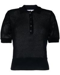Thom Browne カシミア ポロシャツ - ブラック