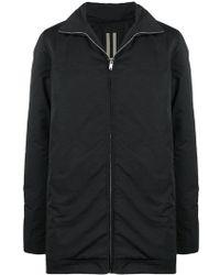 Rick Owens DRKSHDW Drawstring Hooded Jacket - Black