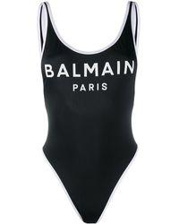Balmain ロゴ ワンピース水着 - ブラック