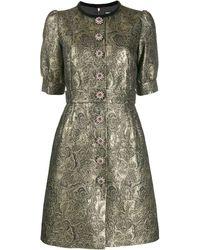 Dolce & Gabbana - メタリック ブロケードドレス - Lyst
