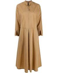 Sara Lanzi オーバーサイズ シャツドレス - ブラウン