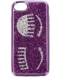 Chiara Ferragni Flirting glitter iPhone 7 case - Violet