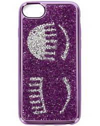 Chiara Ferragni Flirting Glitter Iphone 7 Case - Purple