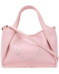 Stella McCartney Сумка-тоут Stella Logo - Розовый