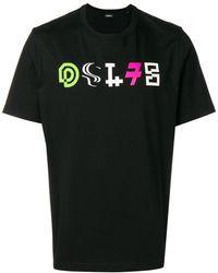 DIESEL T-shirt DSL78 con stampa - Nero