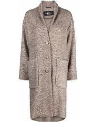 Luisa Cerano Herringbone-pattern Coat - Multicolour