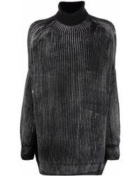 Avant Toi リブニットセーター - ブラック
