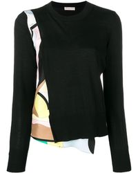 Emilio Pucci Vallauris Print Wool Sweater - Black
