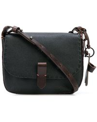 Henry Beguelin Top Stitched Cross Body Bag - Black