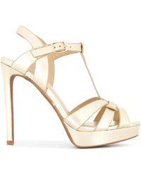 Lola Cruz Platform Stiletto Sandals - Metallic