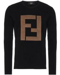 Fendi - Wool Logo Sweater - Lyst