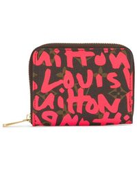 Louis Vuitton 2008 Pre-owned Graffiti Zippy Coin Purse - Red