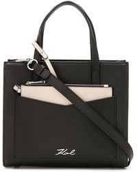 Karl Lagerfeld K Pocket Tote - Black