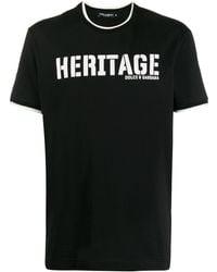 """Dolce & Gabbana T-Shirt mit """"Heritage""""-Print - Schwarz"""