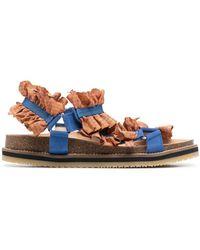 Henrik Vibskov Ruffle-strap Sandals - Orange