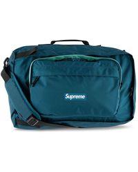 Supreme Logo Duffle Bag - Blue