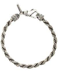 Emanuele Bicocchi Bracelet en chaîne - Métallisé